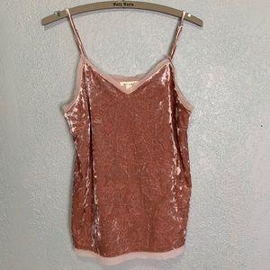 Francesca's Miami dusty pink crushed velvet cami